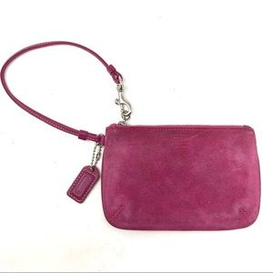 COACH Hot Pink Leather Wristlet